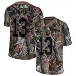 Rams #13 Kurt Warner Camo Team Color V-neck Short-sleeve Jersey For Fans