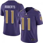 Ravens #11 Seth Roberts Purple Team Color V-neck Short-sleeve Jersey For Fans