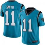 Panthers #11 Torrey Smith Blue Team Color V-neck Short-sleeve Jersey For Fans