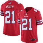 Buffalo Bills #21 Jordan Poyer Red Team Color V-neck Short-sleeve Jersey For Fans