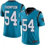 Carolina Panthers #54 Shaq Thompson Blue Team Color V-neck Short-sleeve Jersey For Fans