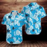 Miami Marlins Tropical Flower Short Sleeve Hawaiian Shirt
