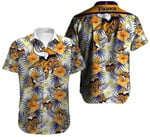 Minnsota Vikings Tropical Yellow Hibiscus Hawaiian Shirt
