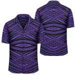 Polynesian Tatau Violet Hawaiian Shirt