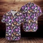 Colorful Ghost Pokemon Print Pattern Short Sleeve Hawaiian Shirt