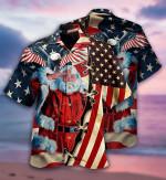 Patriotism America Christmas Hawaiian Aloha Shirts
