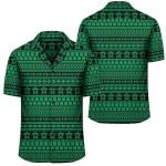 Polynesian Tattoo Tribal Green Hawaiian Shirt