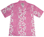 White Hibiscus Panel Hawaiian Shirt