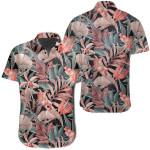 Seamless Tropical Flower Plant Leaf Pattern Background Retro Botanical Style Hawaiian Shirt