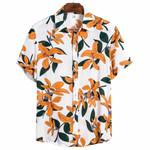 Summer Beach Hawaiian Flowers Shirt