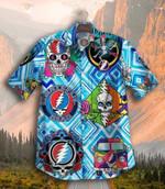 Gettyshirt  Skull Tropical Vintage Grateful Dead Cotton Mens Hawaiian Shirt