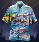 Pontoon Captain Like A Regular, Only Cooler Unisex Hawaiian Shirt