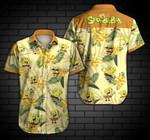 Cute Spongebob Squarepants Tropical Pattern Yellow Hawaii Shirt