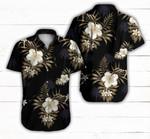 Blackberry Black Hawaiian Aloha Sport Shirt