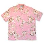 Pink Rayon Hawaiian Shirt