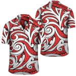 Polynesian Maori Ethnic Ornament Red Hawaiian Shirt