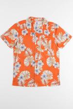 Orange Hibiscus Hawaiian Shirt