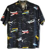 Piper Club Stearman Cessna Beechcraft Airplane Men'S Cotton Blend Aloha Haiwaiian Shirt