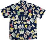 Baseball Legends Men'S Hawaiian Style Camp Shirt