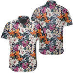 Parrot Toucans Hummingbird Flamingo Tropical Leaves Hawaiian Shirt