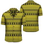 Polynesian Tattoo Tribal Yellow Hawaiian Shirt