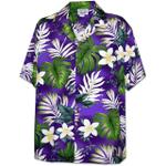 Mr Monstera Purple Hawaiian Shirt