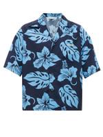 Tropical Blue Hibiscus Hawaiian Shirt