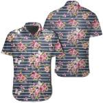 Tropical Butterfly Pink Hawaiian Shirt