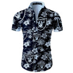 Oakland Raiders Tropical Flower Hawaiian Shirt