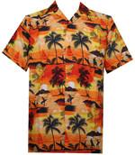 Orange Hawaiian Shirt Aloha Beach At Sunset