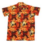 Orange Paradise Hawaiian Shirt