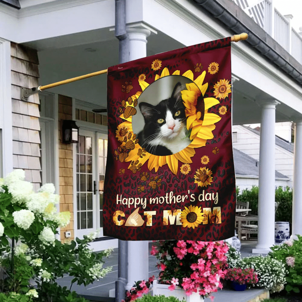Personalized Cat Mom Flag