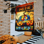 Dare To Be Different Autism Awareness Halloween Flag