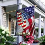Lineman American Flag