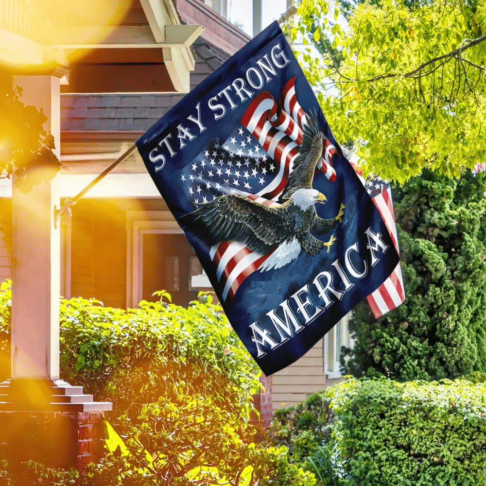 Stay Strong America Eagle Flag