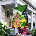 Poodle - Happy St. Patrick Day Flag