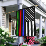 Police Military and Fire Thin Line American Flag