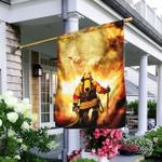 Firefighter God Jesus Flag