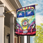 Hippie Bus. Every Little Thing Is Gonna Be Alright Flag