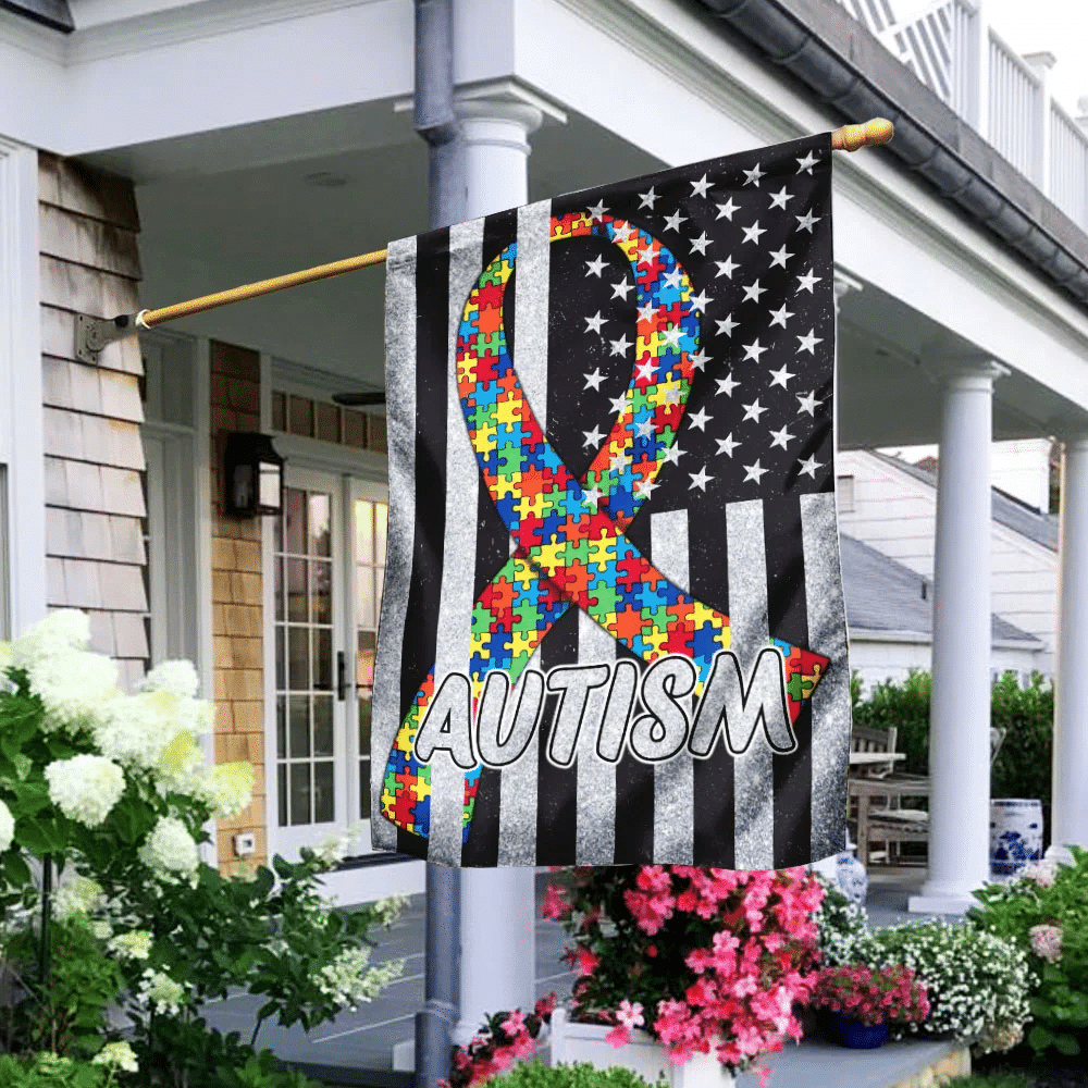 It's Ok To Be Different Autism Awareness Flag
