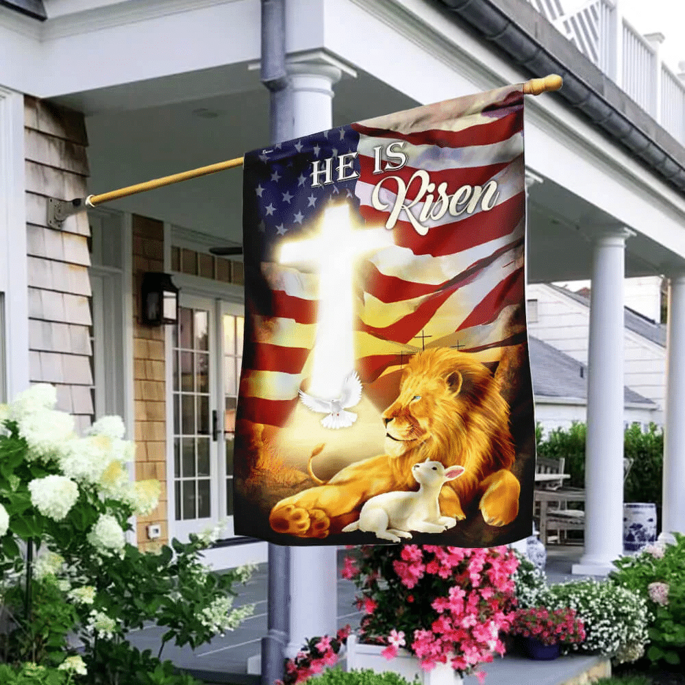 He Is Risen Lion And Lamb Flag