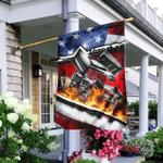 Sprint Car Racing American Flag