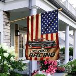 Street Stock Car. Dirt Racing Flag
