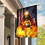 Firefighter American US Flag
