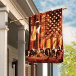 Dairy Cow Sunshine Christian Cross American Flag