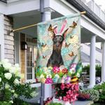 Doberman Happy Easter Flag