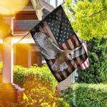 Flying Barn Owl American Flag