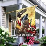 American Veterans - Memorial Flag - Lest We Forget
