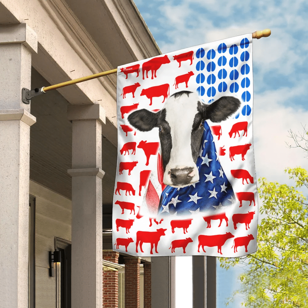 Dairy Cow Celebrate Fourth Of July Independence Day Flag
