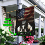 Personalized Boston Terrier American Flag